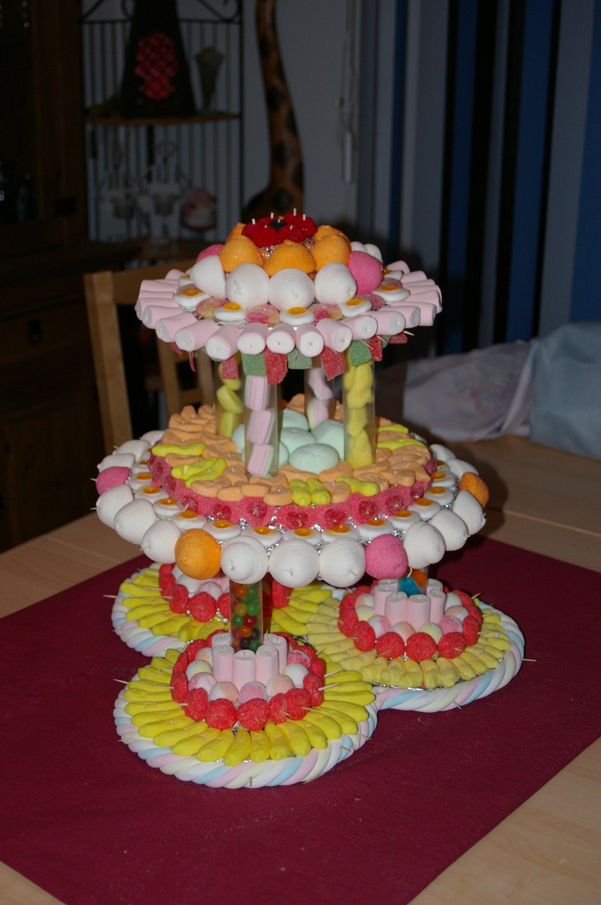 Panier Cadeau Bonbon : G?teaux de bonbons virginie ? pieces montees